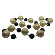 Glittered Black & Gold Bauble Garland