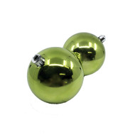 Pack of 4 Lime Green Baubles - 100mm
