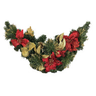 Decorated Red & Gold Swag - 81cm