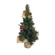 Decorated Red & Gold Tree - 45cm