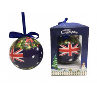 Australian Flag Bauble in Gift Box