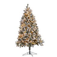 7.5FT Pre-Lit Flocked Chandler Christmas Tree