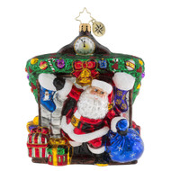 Sir-Prize! Santa in Chimney Hanging Ornament