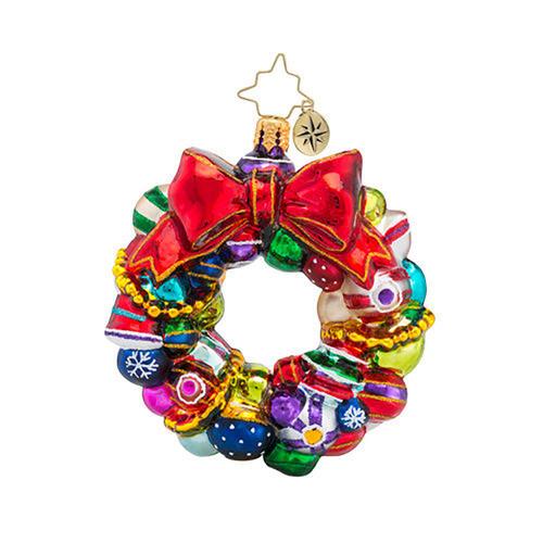 Christopher Radko Joyful Wreath Little Gem Ornament