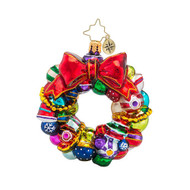 Christopher Radko Joyful Wreath Little Gem Ornament