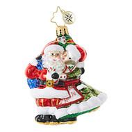 Christopher Radko Mr & Mrs Mistletoe Gem Hanging Ornament