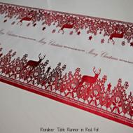 Reindeer Table Runner Red