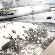 Reindeer Table Runner Silver