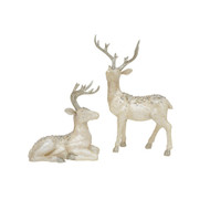 Champagne Leaf Table Reindeer - 2 Styles