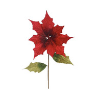 Red Poinsettia Stem - 60cm