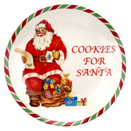 Spode Christmas Tree Candy Cane Cookies Santa - 25cm