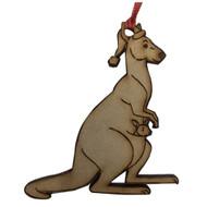 Laser Cut Christmas Kangaroo Hanging Decoration
