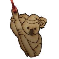 Laser Cut Christmas Koala Hanging Decoration