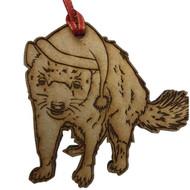 Laser Cut Christmas Tasmanian Devil Hanging Decoration
