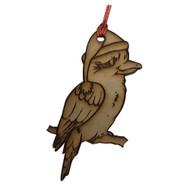 Laser Cut Christmas Kookaburra Hanging Decoration