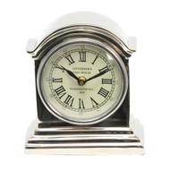 Aluminum Nickel Finish Table Clock