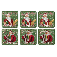 Pimpernel Santa's List Coasters (Set of 6)