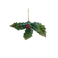 Red Green Holly Hanging Decoration- 12cm