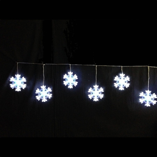 LED Blue White Snowflake Garland