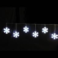 LED Blue White Snowflake Garland