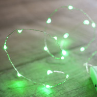 LED Copper Battery Operated Fairy Lights 40pc - Green