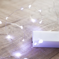 40pc LED Copper Battery Operated Fairy Lights - White