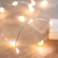 40pc LED Copper Battery Operated Fairy Lights - Warm White