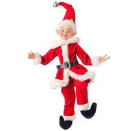 Christmas Elf in a Santa Suit