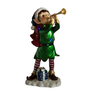 Christmas Elf with Trumpet and LEDs - 99cm