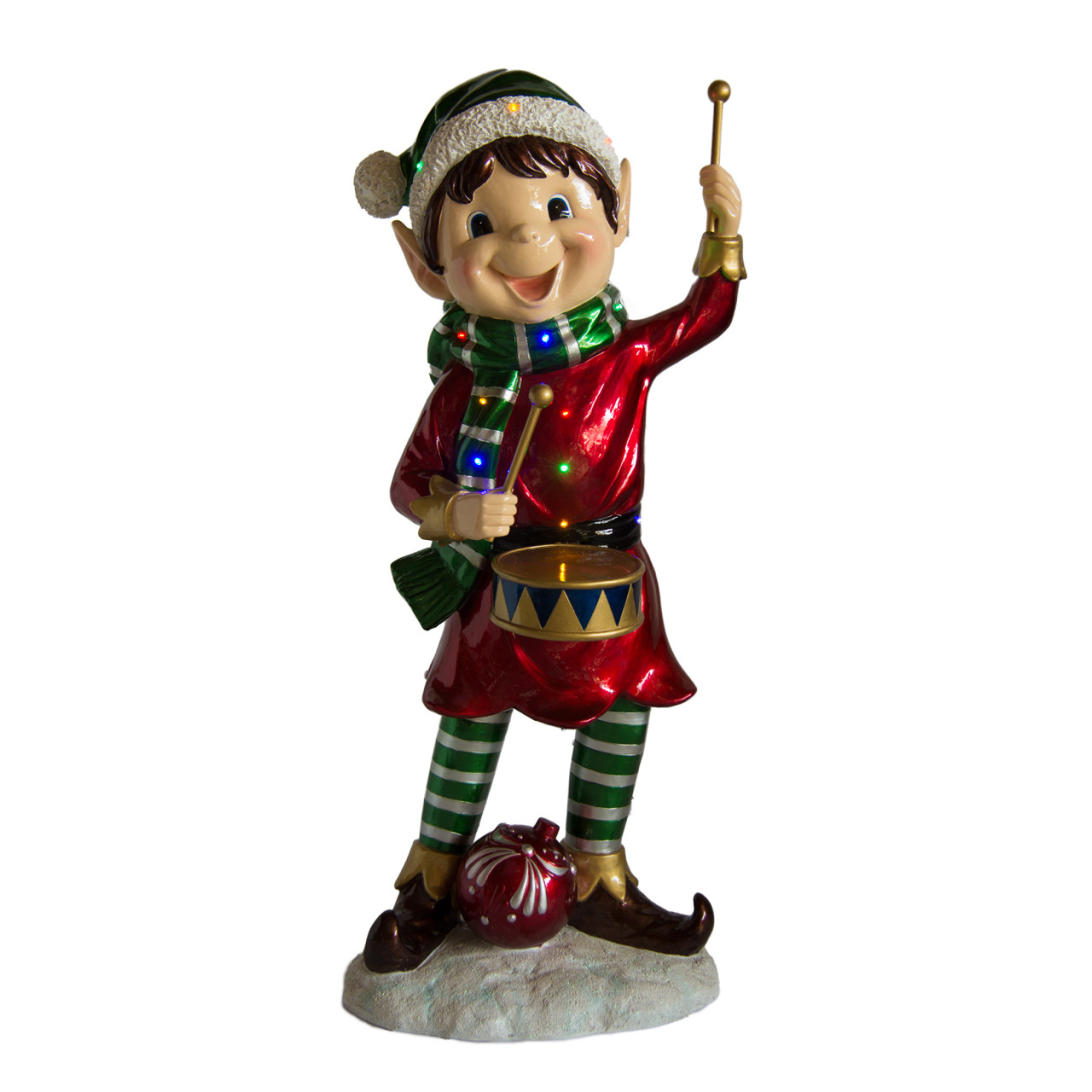 45449967644fd Lightup Christmas Elf with Drum
