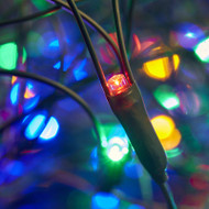 Multi Colour Net Light with Green Wire - 3m