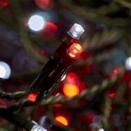 400pc Connectable LED Icicle Lights - Red/White