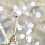 400pc Connectable LED Icicle Lights - White / Clear Wire