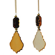 Hanging crystal gold ornament
