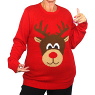 Ugly Christmas Jumper Rudolph Red Nosed Reindeer