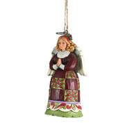 Jim Shore Mini Christmas Angel Ornament - 9.5cm