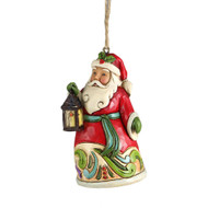 Jim Shore Santa with Lantern Ornament - 9cm