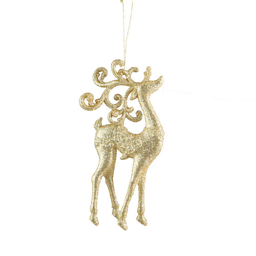Gold Reindeer Christmas Ornament