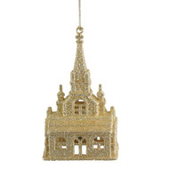 Gold Cathedral Christmas ornament
