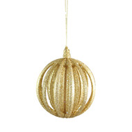 Gold 3D Ball Hanging Ornament - 11cm