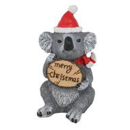 Koala Christmas Figurine with Sign - 13cm