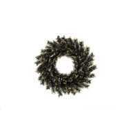 "23"" Round Black Brewster Wreath"