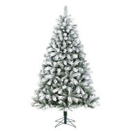 7.5FT Flocked Chandler Christmas Tree