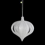 Glittered White Layered Onion Ornament