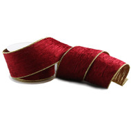 Burgundy Red and Gold Ribbon