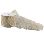 Gold  Mesh Textured  Ribbon