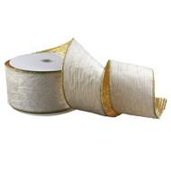 Champagne & Gold Velvet Crinkle Ribbon