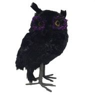 Black Feathered Owl - 16cm