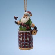 Jim Shore - Santa w/Cardinal Ho ornament