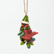 Jim Shore - Christmas Cardinal Ho Ornament